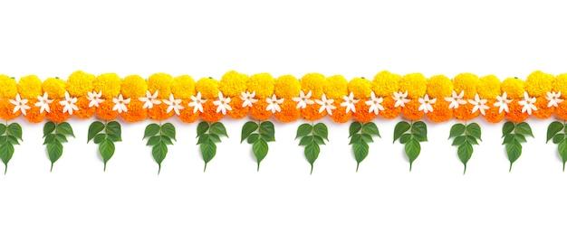 Marigold flower rangoli design na diwali festival