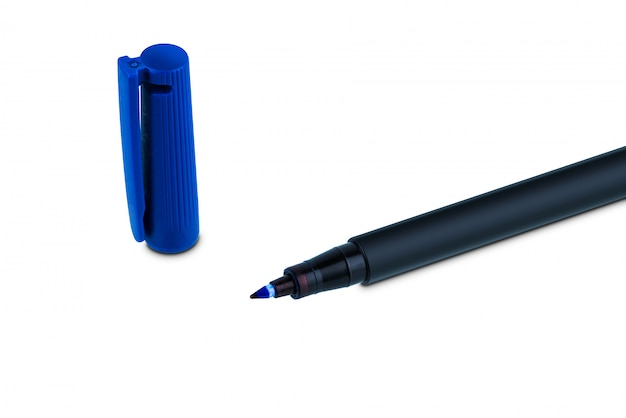 Marker chemiczny długopis tablicy na białym tle