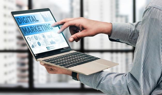 Marketing koncepcji biznesowej technologii cyfrowej