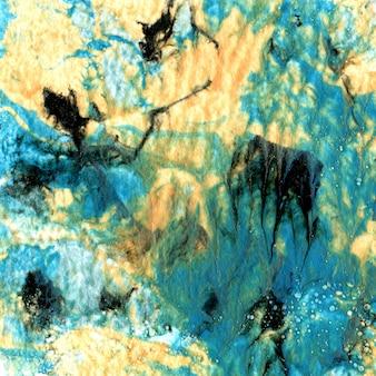 Marmurkowa tekstura papieru. ręcznie robiony efekt z farbami akrylowymi. unikalne tło