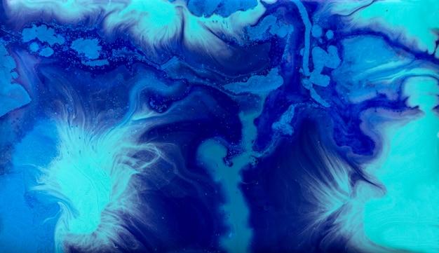 Marmurkowaty błękitny abstrakcjonistyczny tło