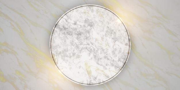 Marmurowa rama do umieszczania wiadomości i produktów na złotym marmurowym tle ilustracji 3d