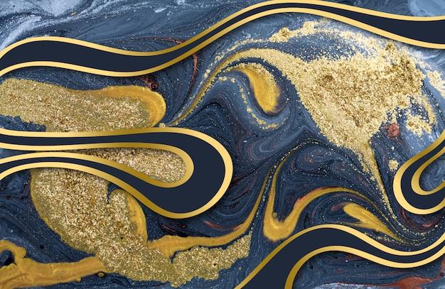 Marmurowy abstrakcjonistyczny akrylowy tło