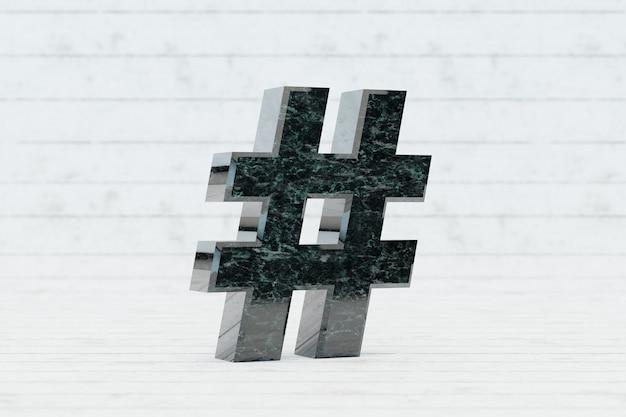 Marmurowy symbol hashtagu