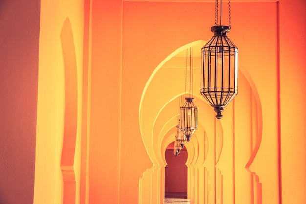 Maroko lamp architektury