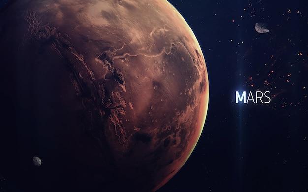 Mars - piękna grafika w wysokiej rozdzielczości przedstawia planetę układu słonecznego