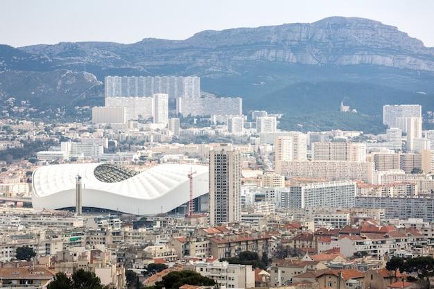 Marsylia widok z lotu ptaka francja