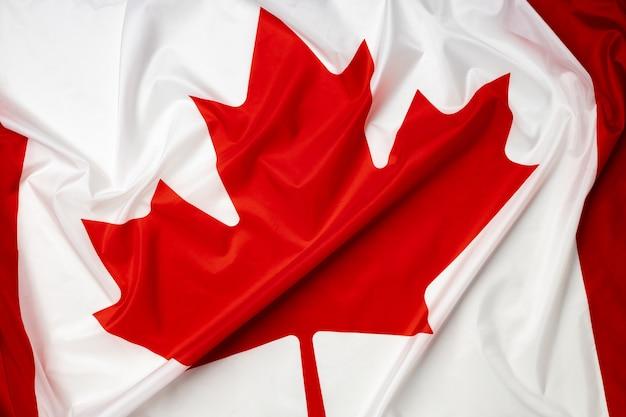 Marszczona flaga tekstylna zdjęcia kanady