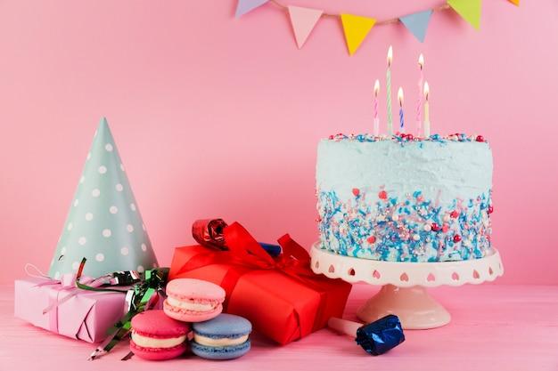 Martwa natura elementów urodzinowych