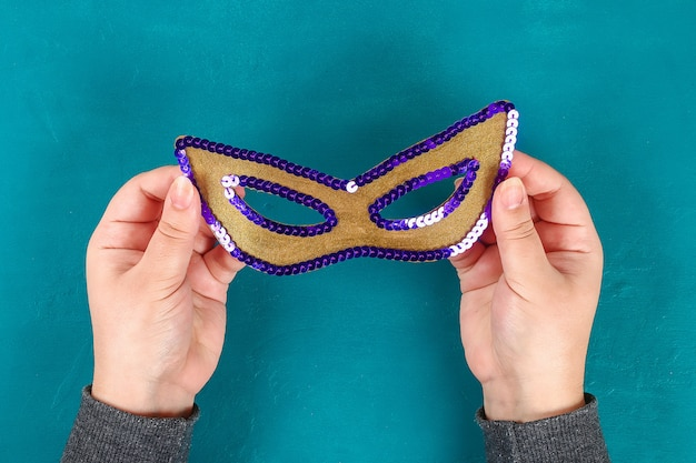 Maska diy masquerade mardi gras, tłusty wtorek.