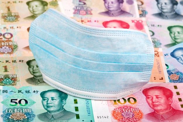 Maska ochronna na chińskie pieniądze - yuan