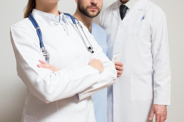 Maska pozycji stałych lekarzy kobiet lekarza