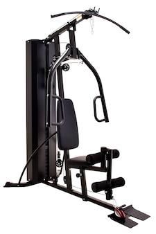 Maszyna do siłowni na białym tle.