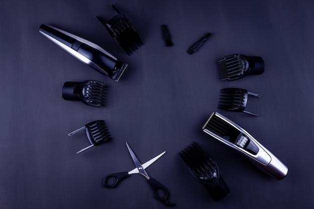 Maszynka do strzyżenia włosów czarne tło