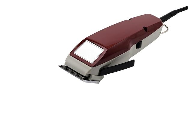 Maszynka do strzyżenia włosów na głowie na białym tle