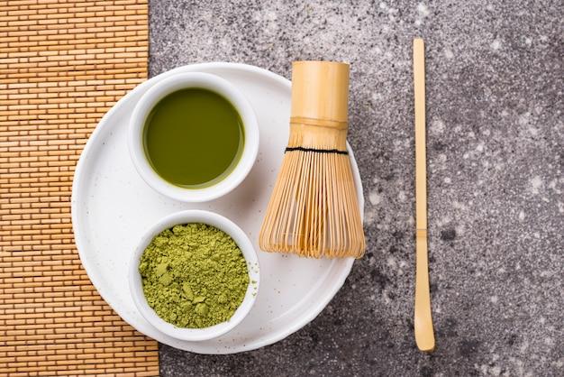 Matcha do herbaty i bambusa