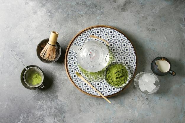 Matcha w proszku z zielonej herbaty
