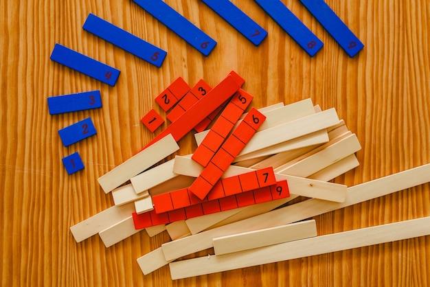 Materiał do nauki montessori do nauki dzieci w dziedzinie matematyki