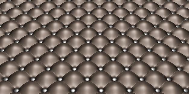 Materiał obiciowy winyl lub tuftowana czarna skóra tapicerka sofy w tle dekoracja mebli