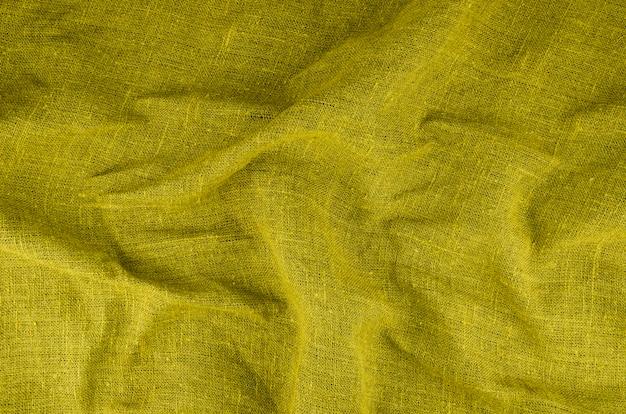 Materiał teksturowany z żółtej tkaniny