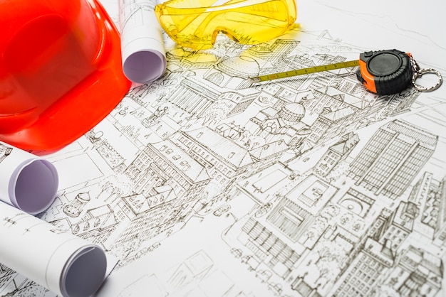 Materiały szkicowe i architektoniczne