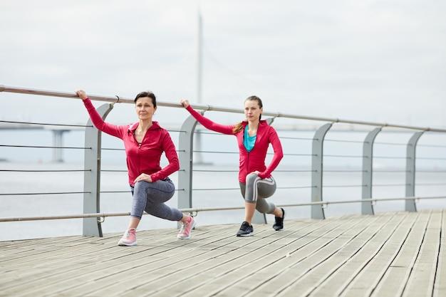 Matka i córka joggingu