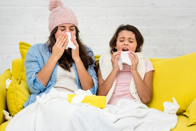 Matka i córka są razem chore