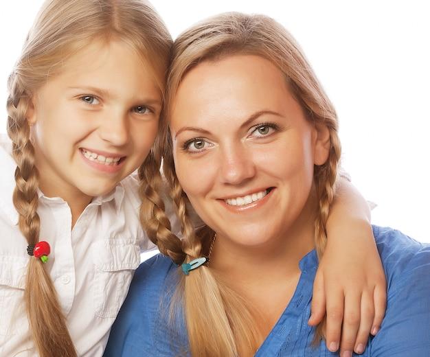 Matka i jej córka uśmiecha się