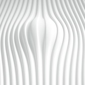 Matowe tło z trójwymiarowym nadrukiem, falami i paskami. ilustracja, renderowanie 3d.