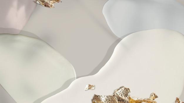 Matowy pastel ze złotym brokatem w tle