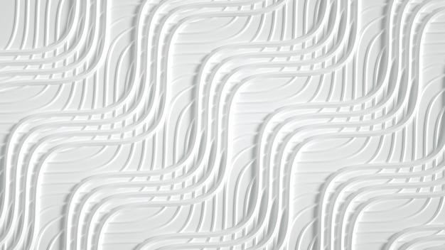 Matowy z trójwymiarowym nadrukiem, falami i paskami