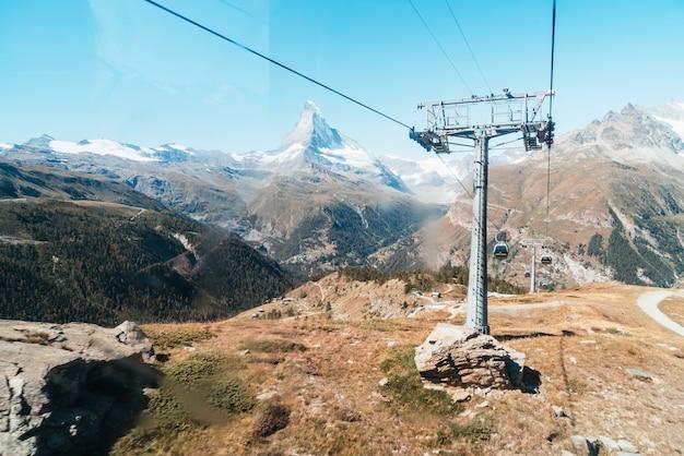 Matterhorn szczyt w zermatt, szwajcaria