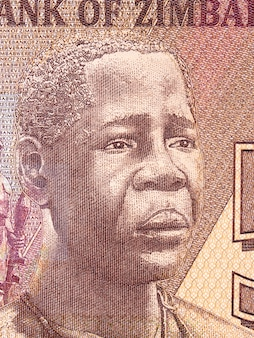 Mbuya nehanda portret z zimbabwe pieniądze