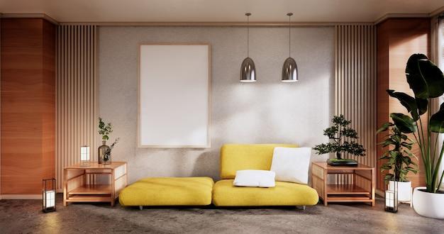 Meble do sofy i nowoczesny wystrój pokoju minimal. rendering 3d
