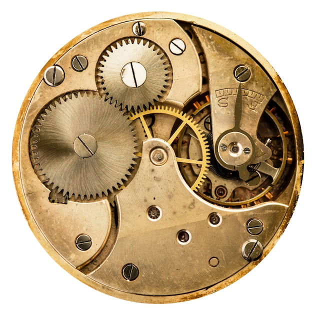 Mechaniczny stary zegarek mechaniczny, wysoka rozdzielczość i szczegółowość