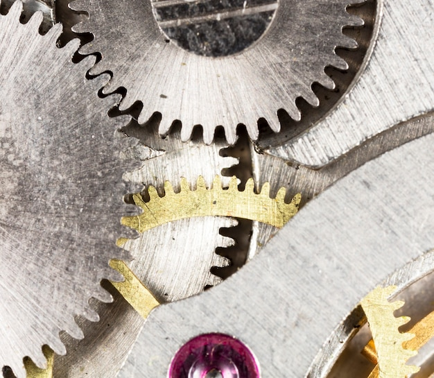 Mechaniczny zegarek vintage mechaniczny o wysokiej rozdzielczości i szczegółach