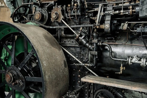 Mechanizm starego pojazdu transportowego