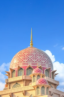 Meczet putra w putrajaya, malezja