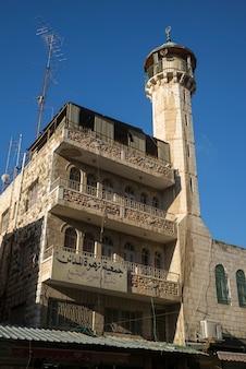 Meczet w muzułmańskim sąsiedztwie, stare miasto, jerozolima, izrael