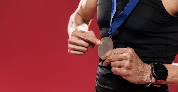 Medal szlaku z bliska