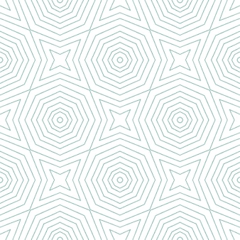 Medalion wzór. turkusowe tło symetryczne kalejdoskop. tekstylny oryginalny nadruk, tkanina na stroje kąpielowe, tapeta, opakowanie. medalion akwarela bezszwowe dachówka.