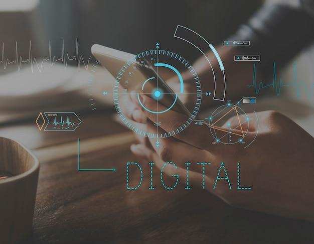Media hub ikona społeczności cyfrowej