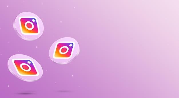 Media społecznościowe ikony instagram renderowanie 3d
