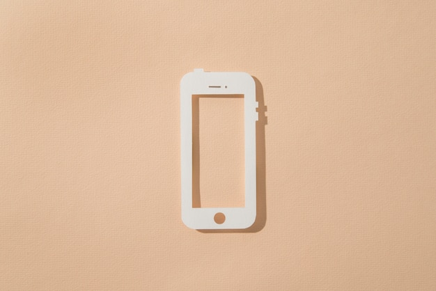 Media społecznościowe martwa natura z telefonem