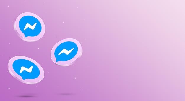 Media społecznościowe messenger ikony renderowania 3d
