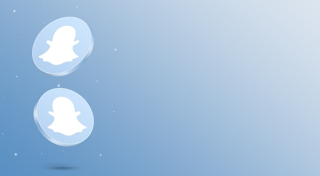 Media społecznościowe snapchat ikony renderowania 3d