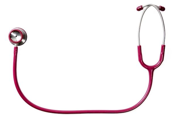 Medycyna i opieka zdrowotna koncepcja lekarzy stetoskop na białym tle