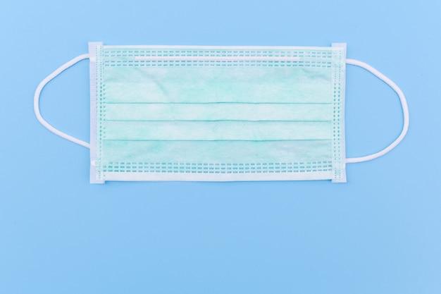 Medyczna maska na twarz, jednorazowa chirurgiczna maska na twarz na niebiesko