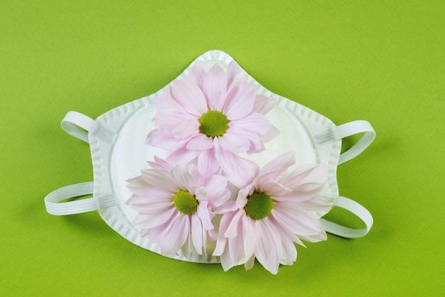 Medyczna maska ochronna z kwiatami przeciw koronawirusowi, twórczy wzór przeciwko pandemii covid 19