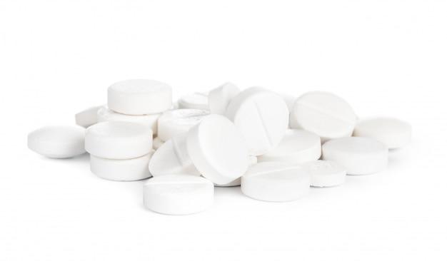 Medyczna pigułki pastylka na biel powierzchni